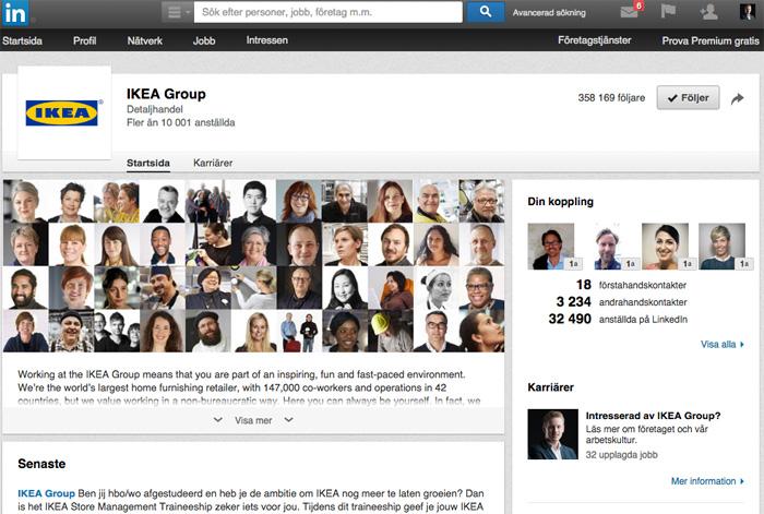 ikea linkedin company page