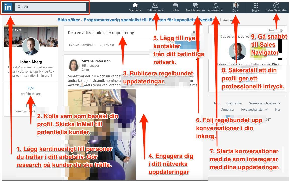 linkedin nytt utseende social selling 2017