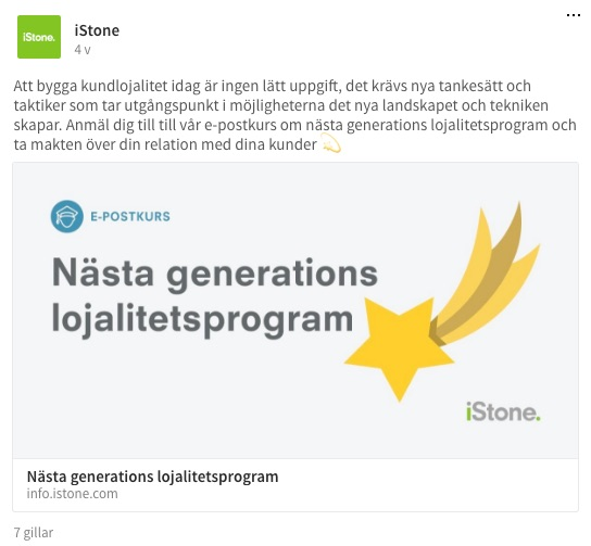 istone content marketing exempel