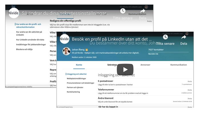 ändra dina sekretessinställningar och ta bort kontakter på linkedin